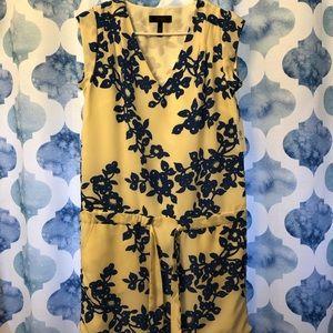 NWT Jessica Smp cap sleeve dress w/drawstrng waist